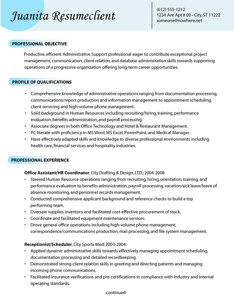 Library Professional Resume